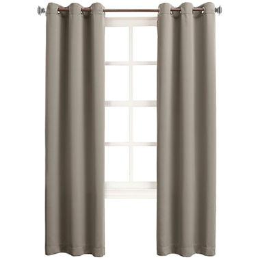 Sun Zero Talon Room Darkening Grommet Top Curtain Panel