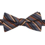 JF J. Ferrar® Rob Striped Pre-Tied Bow Tie