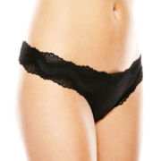 Ambrielle® Sensual Shine Thong Panties