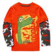 Disney Apparel by Okie Dokie® Long-Sleeve Good Dino Tee - Preschool Boys 4-7
