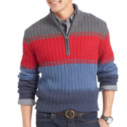 IZOD® Multi-Striped Quarter-Zip Sweater