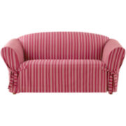 SURE FIT® Grain Sack Stripe 1-pc. Loveseat Slipcover