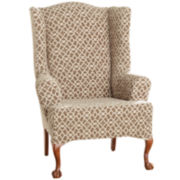 SURE FIT® Stretch Ironwork 1-pc. Wing Chair Slipcover