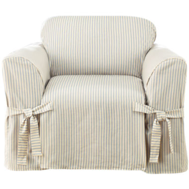 jcpenney.com | SURE FIT® Ticking Stripe 1-pc. Chair Slipcover