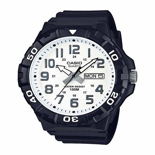 Casio Table Mens Black Strap Watch-Mrw210h-7apb