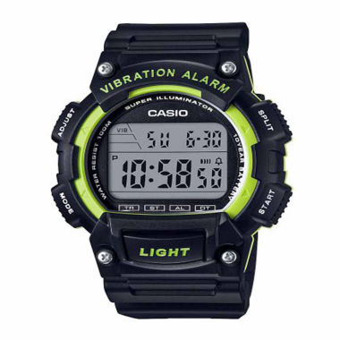 jcpenney.com | Casio Table Mens Black Strap Watch-W736h-3avpb