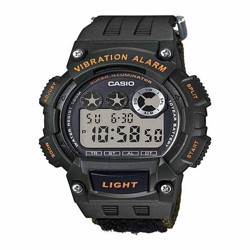 Casio Table Mens Black Strap Watch-W735hb-3avpb