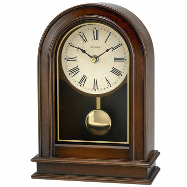 jcpenney.com | Bulova White Table Clock-B7467