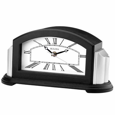 jcpenney.com | Bulova White Table Clock-B6219