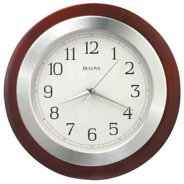 jcpenney.com | Bulova White Wall Clock-C4228