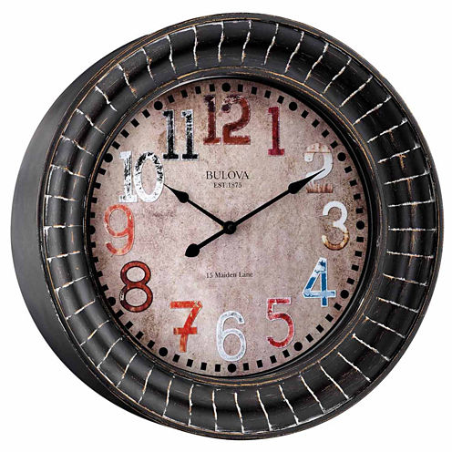 Bulova Paris Champagne Wall Clock-C4824