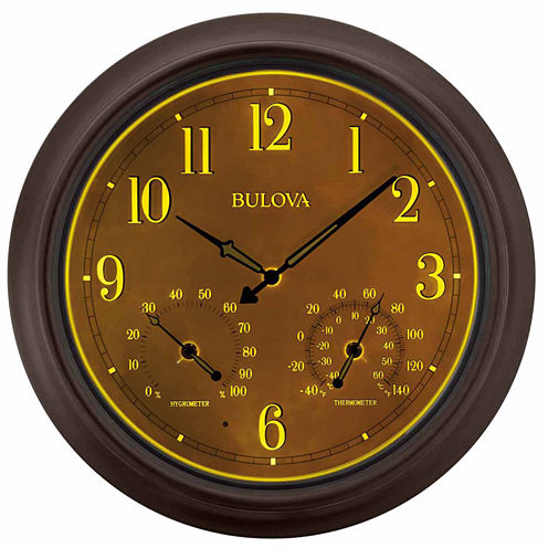 Bulova Brown Wall Clock-C4813