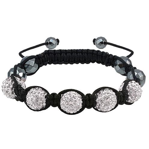Sparkle Allure Womens White Beaded Bracelet