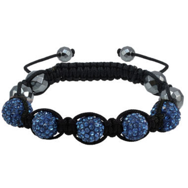 jcpenney.com | Sparkle Allure Womens Blue Silver Over Brass Beaded Bracelet