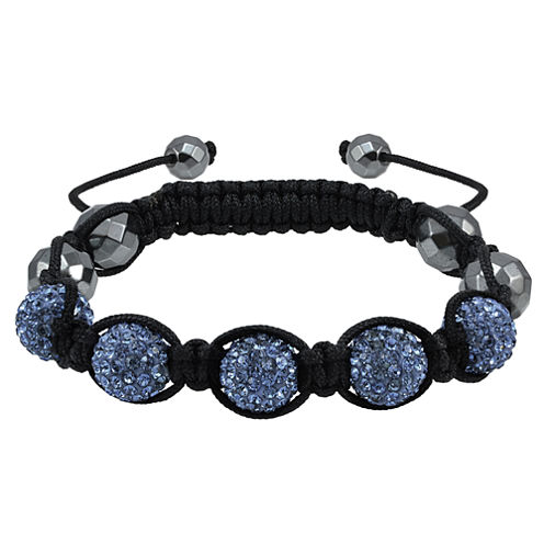 Sparkle Allure Womens Blue Beaded Bracelet