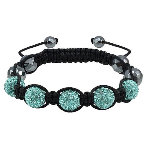 Sparkle Allure Womens Blue Beaded Bracelet