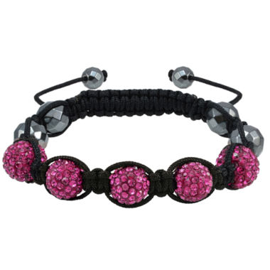 jcpenney.com | Sparkle Allure Womens Pink Silver Over Brass Beaded Bracelet
