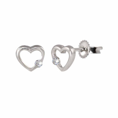 jcpenney.com | Round White Sapphire Sterling Silver Stud Earrings