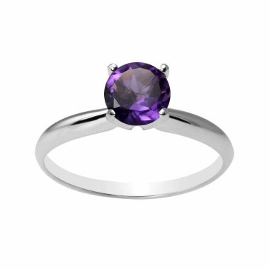 jcpenney.com | Womens Purple Amethyst 14K Gold Solitaire Ring
