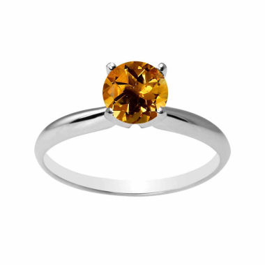 jcpenney.com | Womens Yellow Citrine 10K Gold Solitaire Ring