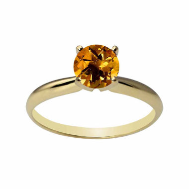 jcpenney.com | Womens Yellow Citrine 14K Gold Solitaire Ring