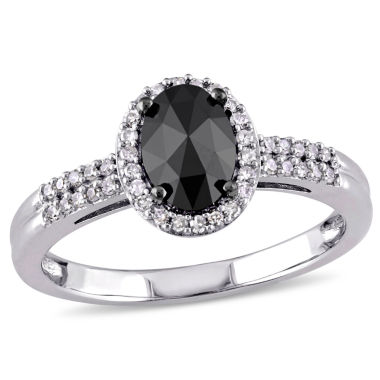 jcpenney.com | Midnight Black Diamond 1 CT. T.W. 14K White Gold Diamond Bridal Ring