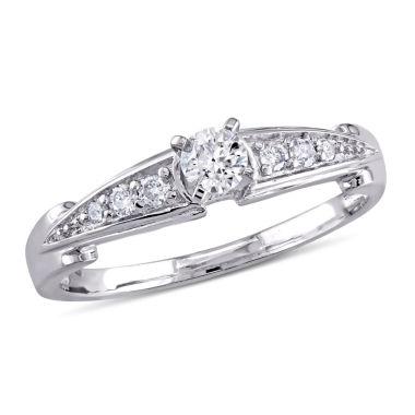 jcpenney.com | 1/4 C.T. T.W. Diamond Engagement Ring Sterling Silver