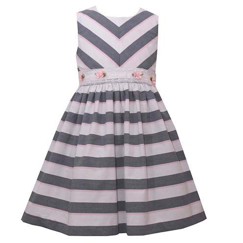 Bonnie Jean Long Sleeve Party Dress - Preschool Girls