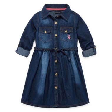 jcpenney.com | U.S. Polo Assn. Short Sleeve Skater Dress - Preschool