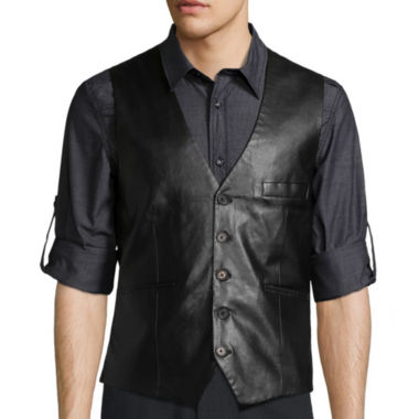 jcpenney.com | WD.NY BLACK Solid Faux Leather Vest