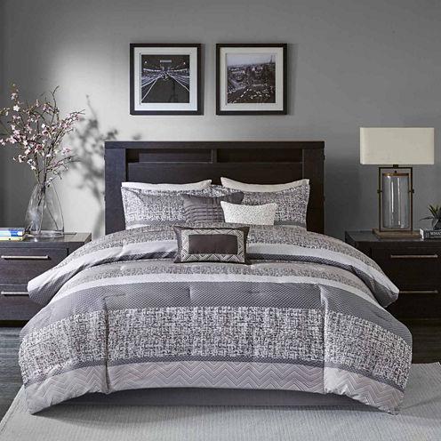 Madison Park Melody 7-pc. Jacquard Comforter Set