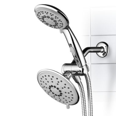jcpenney.com | Hydroluxe® 30-Setting Ultra-Luxury 3 way 6-inch Rainfall  Shower Combo with Patented ON/OFF Pause Switch