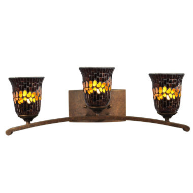 jcpenney.com | Dale Tiffany™ Copper Shell 3-Light Mosaic Vanity Light