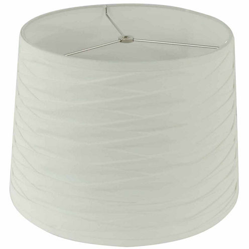 Hand Pleated White Empire Shade