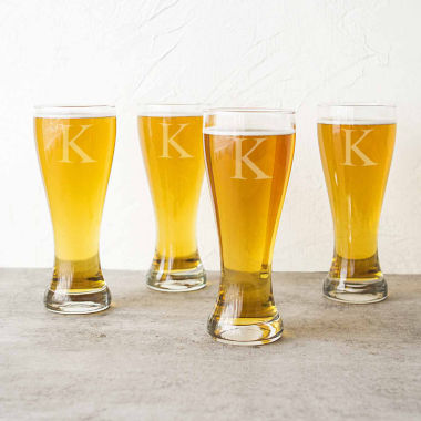 jcpenney.com | Cathy's Concepts Set of 4 Personalized Pilsner Glasses
