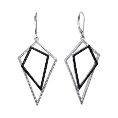 jcpenney.com | Diamond Addiction White & Black Diamond-Accent Geometric Earrings