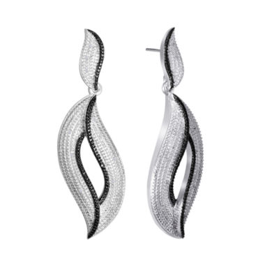 jcpenney.com | Diamond Addiction 1/10 CT. T.W. White &  Black Diamond Freeform Earrings