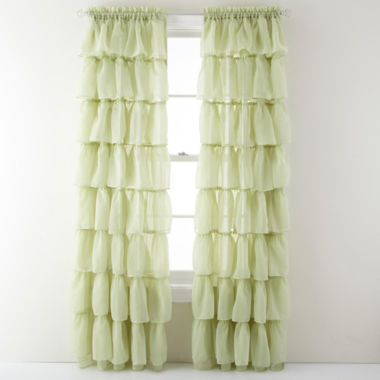 jcpenney.com | Gypsy Ruffled Rod-Pocket Sheer Panel