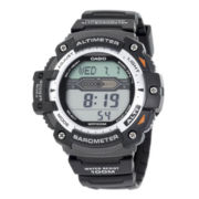 Casio® Twin Sensor Mens Altimeter/Barometer Digital Sport Watch