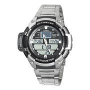 Casio® Twin Sensor Mens Altimeter/Barometer Analog/Digital Sport Watch