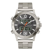 Caravelle New York® Mens Stainless Steel Analog/Digital Sport Watch 43B141