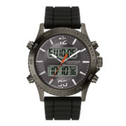 Caravelle New York® Mens Black Silicone Strap Analog/Digital Sport Watch