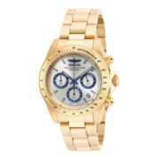 Invicta® Speedway Mens Gold-Tone Stainless Steel Chronograph Sport Watch
