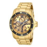 Invicta® Pro Diver Mens Gold-Tone Stainless Steel Sport Watch