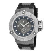 Invicta® Subaqua NOMA III Mens Gray/Black Silicone Strap Chronograph Sport Watch