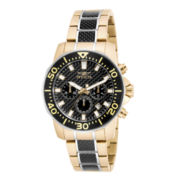 Invicta® Pro Diver Mens Gold-Tone Stainless Steel Chronograph Sport Watch