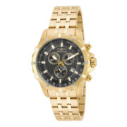 Invicta® Mens Gold-Tone Stainless Steel Chronograph Sport Watch
