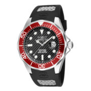 Invicta® Pro Diver Mens Black Silicone Strap Sport Watch