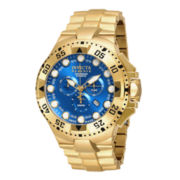 Invicta® Reserve Mens Blue Dial Stainless Steel Chronograph Sport Watch