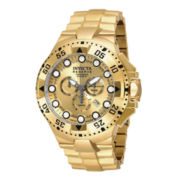 Invicta® Reserve Mens Gold-Tone Dial Stainless Steel Chronograph Sport Watch